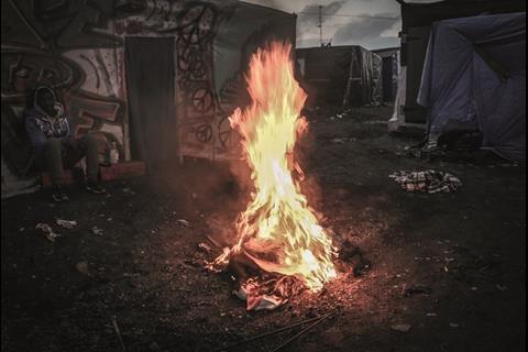 One man fire in Jungle